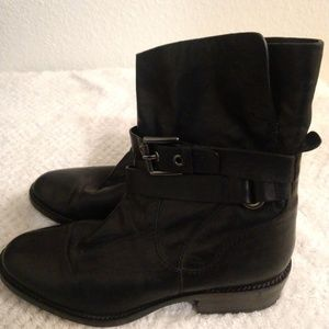 Coach Jesika Leather Ankle Boots